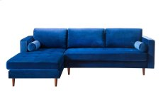 Como Navy Velvet Sectional LAF Product Image