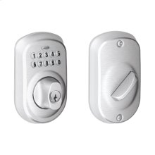 Plymouth Trim Keypad Deadbolt - Satin Chrome