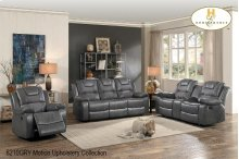 Double Glider Loveseat with Console