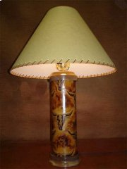 Longhorn Leather Lamp Product Image