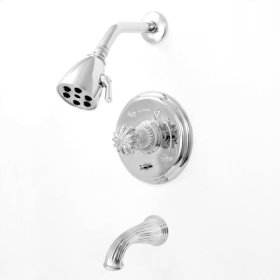 3200 Series Pressure Balance Tub and Shower Set with Madison Elite Handle (available as trim only P/N: 1.324068DT)
