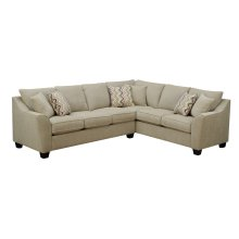 Emerald Home Calvina 2pc Sectional W/6 Pillows Cream U4242-11-12-09-k