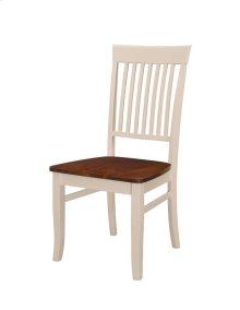 Slat Back Side Chair W/wood Seat Rta