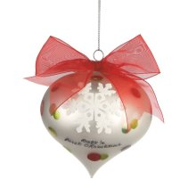 Snowflake Ball Ornament.