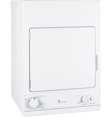 GE Spacemaker® 240V 3.6 cu. ft. Capacity Stationary Electric Dryer