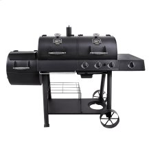 LONGHORN COMBO CHARCOAL & GAS OFFSET SMOKER