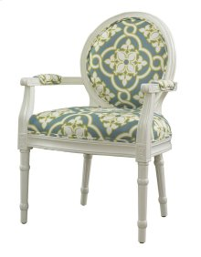 White and Teal Ghost Chair