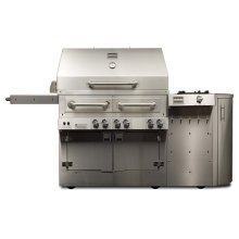 Kalamazoo K900HS Hybrid Fire Free-Standing Grill with Side Burner