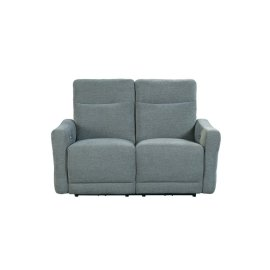 Power Double Lay Flat Reclining Love Seat with Power Headrests and USB Ports