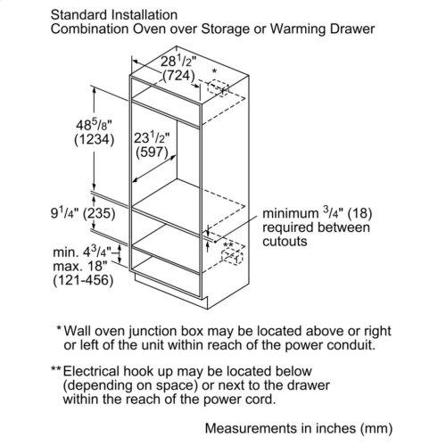 500 Series warming drawer 30'' HWD5051UC