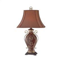 Prg Drk Cocoa / Slvr Urn Table Lamp