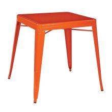 Paterson Metal Table In Orange Finish