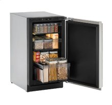 "Modular 3000 Series 18"" Solid Door Refrigerator With Stainless Solid Finish and Field Reversible Door Swing"