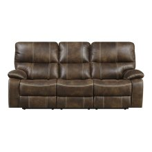 Emerald Home Jessie James Power Sofa Chocolate Brown U7130-18-15