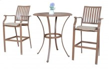 Island Breeze 3 PC Slatted Pub Table Set