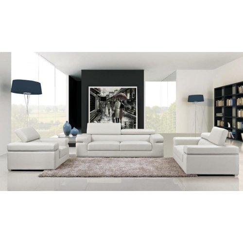 Divani Casa Atlantis Modern White Bonded Leather Sofa Set