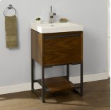 "m4 21x18"" Open Shelf Vanity - Natural Walnut Product Image"