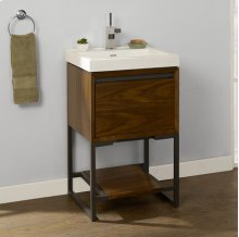"m4 21x18"" Open Shelf Vanity - Natural Walnut"