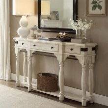 Regan - Server - Farmhouse White Finish