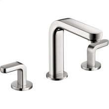 Chrome Metris S Widespread Faucet with Lever Handles