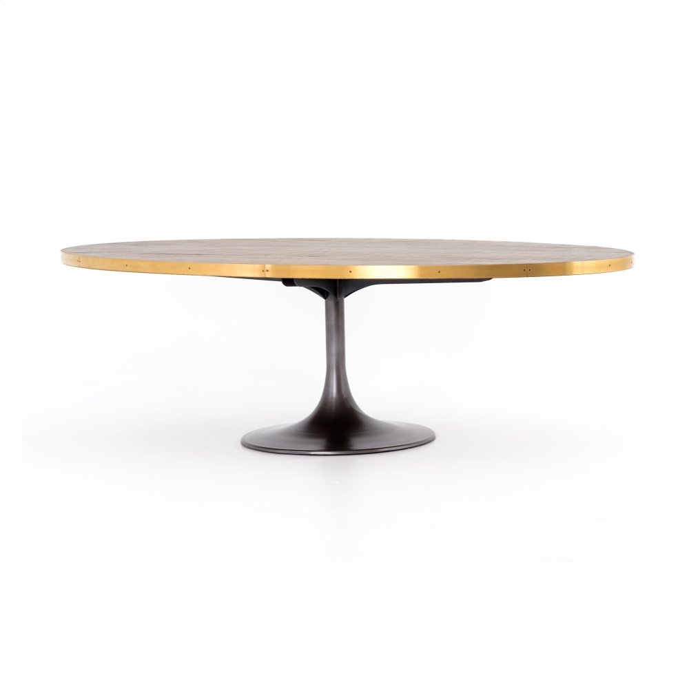 """Evans Oval Dining Table-98"""""""