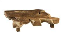 Chamcha Wood Freeform Coffee Table, Square, Thick Slab