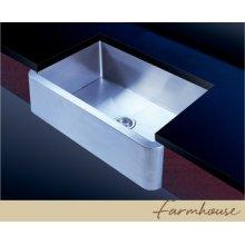 Large Farmhouse Kitchen Sink - Extra Heavy Duty - Satin Stainless