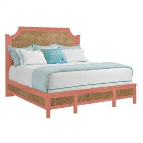 Resort Water Meadow Woven Bed In Melon - King