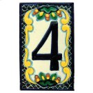 House Address Number 4 in Zinnia Product Image