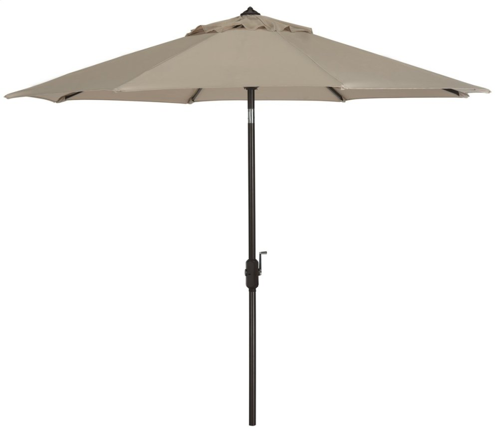Ortega 9 Ft Auto Tilt Crank Umbrella - Beige