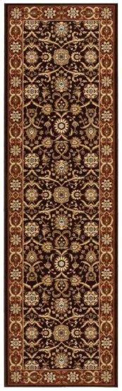 PERSIAN CROWN PC001 DARK BROWN RUNNER 2'2'' x 7'6''