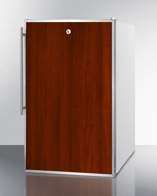 """Commercially Listed ADA Compliant 20"""" Wide Built-in Undercounter Refrigerator-freezer With A Lock, Custom Door for Slide-in Panels and White Exterior"""