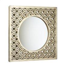 Square Wood Trellis Mirror, Wb