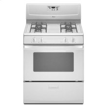 4.4 cu. ft. Gas Range with Versatile Cooktop - white