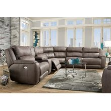 Power Reclining 6 Piece Sectional with Power Headrest Upgrade