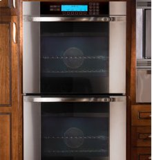 """Discovery 30"""" Millennia Double Wall Oven, in Stainless Steel with Vertical Black Glass"""