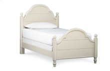 Inspirations by Wendy Bellissimo - Seashell White Westport Low Poster Bed T 3/3