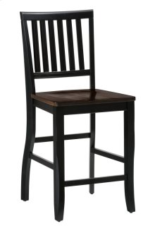 Braden Antique Black Slat Back Counter Stool