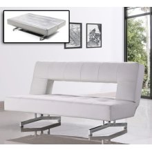 Divani Casa Wilshire - Modern Fold-Out Leatherette Sofa Bed