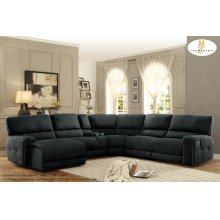 Left Side Reclining Chaise, Push Back Recliner