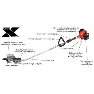 25.4 cc professional-grade two-stroke Edger
