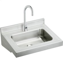"Elkay Stainless Steel 22"" x 19"" x 5-1/2"", Wall Hung Lavatory Sink Kit"