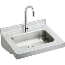 "Elkay Stainless Steel 22"" x 19"" x 5-1/2"", Wall Hung Lavatory Sink Kit"