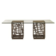 South Sea Dining Table With 84 X 48 Inch Glass Top