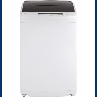 GE™ Space-Saving 3.3 IEC Cu. Ft. Capacity Stationary Washer with Stainless Steel Basket White - GNW128SSMWW