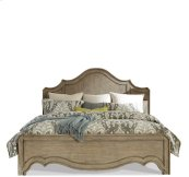 Corinne Queen Curved Panel Footboard Sun-drenched Acacia finish