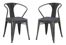 Emerald Home Dakota Dining Chair Gunmetal Gray D131-20