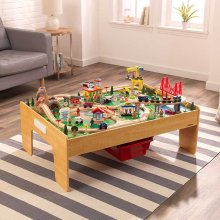Adventure Town Railway Train Set & Table with EZ Kraft Assembly