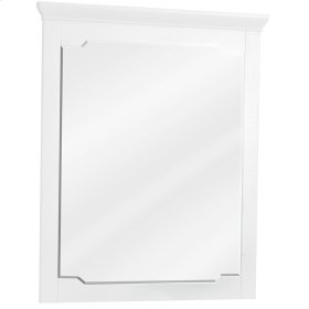 "28"" x 34"" White mirror with beveled glass"