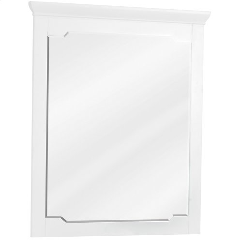 """28"""" x 34"""" White mirror with beveled glass"""